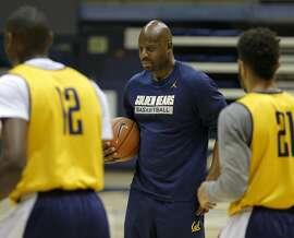 Assistant coach Wyking Jones at Cal Bears men's basketball practice in Berkeley, California, on Wednesday, Oct. 7, 2015.