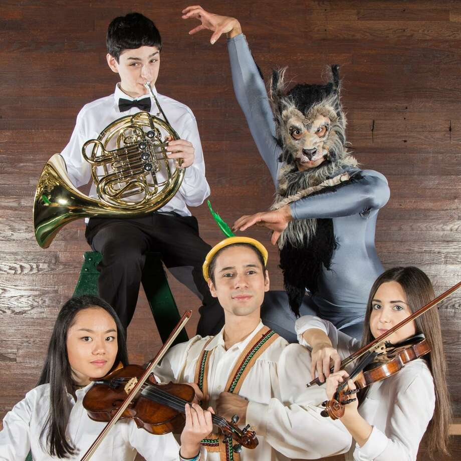 """On Sunday, April 2, audiences will have the opportunity to see and hear a production of """"Peter & The Wolf"""" — which will bring together members of the Greater Bridgeport Youth Orchestras' Symphony Orchestra and dancers from the New England Ballet Company at the University of Bridgeport's Bernhard Arts Center. Photo: GBYO /NEBC / Contributed Photo"""
