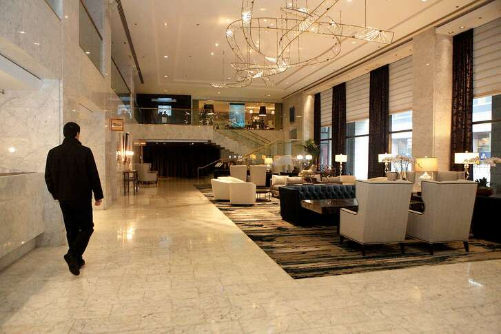 The newly renovated lobby is now open inside Hotel Nikko on Friday, March 24, 2017, in San Francisco, Calif.