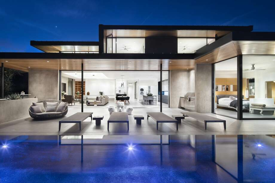 """Austin's """"Waterfall House,"""" perched in the Westlake Hills, is on the market for $6.8 million. Photo: Courtesy, Paul Finkel/piston Design"""