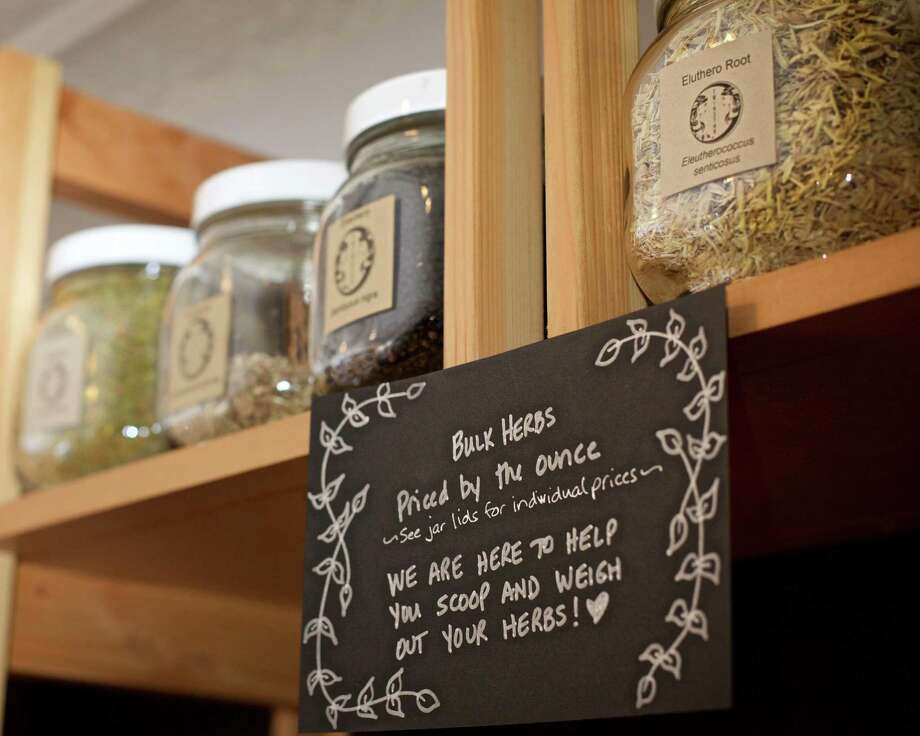The Grand Opening of Twin Star Community Apothecary is this Saturday, March 25th on Bank Street in New Milford, CT. They are known for their bulk tea blends, simple tincture, and bulk herbs priced by the ounce. Photo: Trish Haldin / For Hearst Connecticut Media / The News-Times Freelance