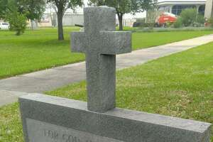 """The Freedom From Religion Foundation is threatening to sue Orange County for the placement of an American Legion war memorial with a cross on top of it that reads """"For God and Country,"""" and a white Latin cross that stands near the courthouse entrance."""