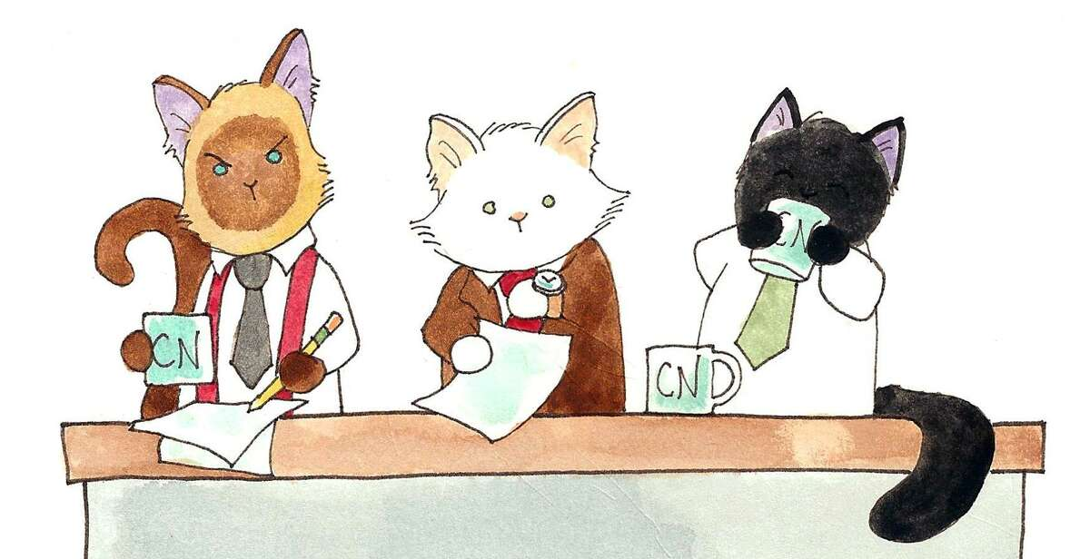 (Left to right) Elvis, Lupin and Puck, the stars of the webcomic and now newspaper comic