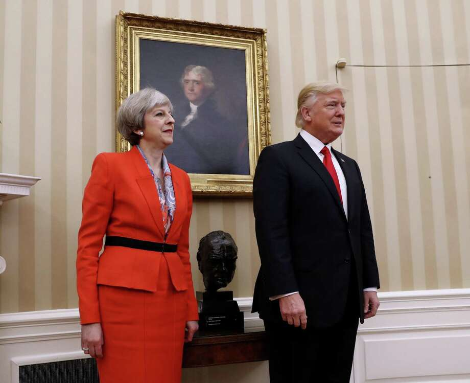 President Donald Trump stands with British Prime Minister Theresa May in the Oval Office. The two have been criticized for their nationalism, but a reader says they were elected to put the U.S. and Britain first. Photo: Pablo Martinez Monsivais /AP / Copyright 2017 The Associated Press. All rights reserved.