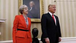 President Donald Trump stands with British Prime Minister Theresa May in the Oval Office. The two have been criticized for their nationalism, but a reader says they were elected to put the U.S. and Britain first.