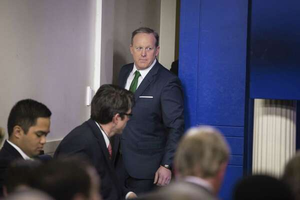 White House press secretary Sean Spicer confronts reporters during a testy daily briefing regarding allegations of surveillance at Trump Tower. President Donald Trump said interesting information would emerge from congressional investigations into the matter. A reader wonders where it is.