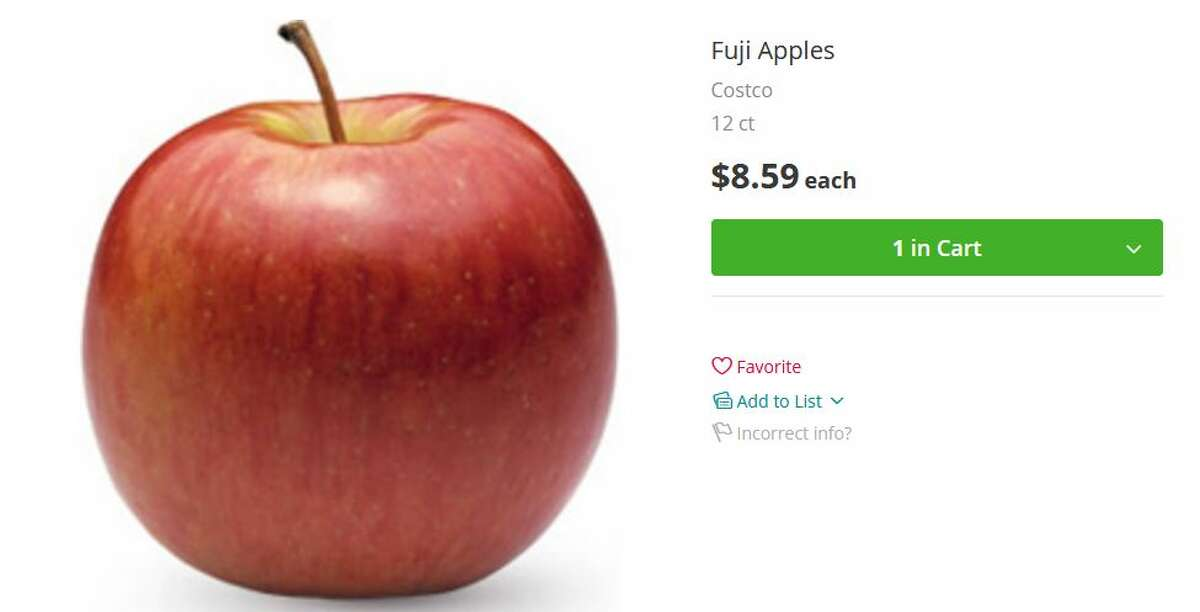 Costco Fuji apples: $8.59 for 12-count haul (about 72 cents per apple)