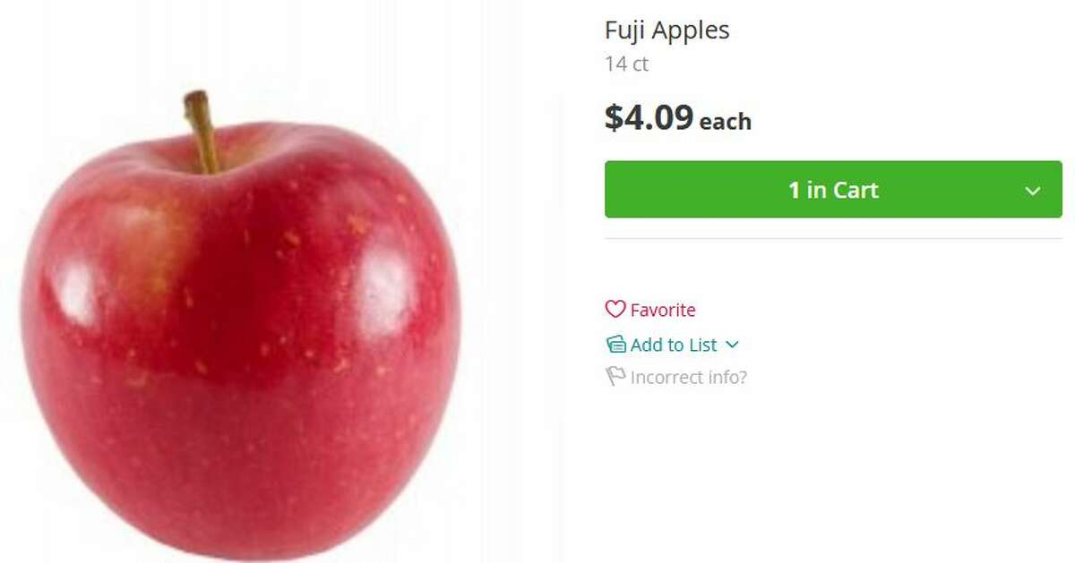 Cash and Carry Fuji apples: $4.09 for 14-count haul (about 29 cents per apple) Winner: Cash and Carry