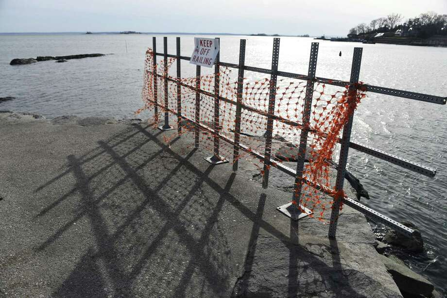 The Steamboat Road pier in Greenwich, needs $600,000 in repairs. Photo: Tyler Sizemore / Hearst Connecticut Media / Greenwich Time