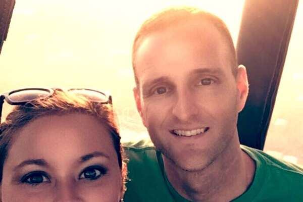 Matt and Sunday Rowan took this selfie after lifting off on a balloon tour July 30, 2016. The balloon, whose pilot was disqualified from flying because of alcohol convictions and drugs, crashed into power lines, killing all 16 people aboard. The FAA failed to heed warnings about the pilot.