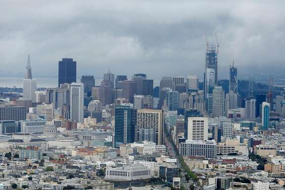 A view of San Francisco's skyline can be seen from the top of Twin Peaks on Friday, March 24, 2017, in San Francisco, Calif.