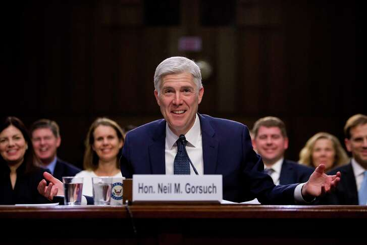Judge Neil Gorsuch is President Donald Trump's nominee for the Supreme Court. He testified before the Senate Judiciary Committee on Capitol Hill last week.  (Eric Thayer/The New York Times)