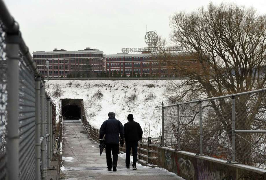 The General Electric plant is viewed from a walkway leading to the historic production facility on Friday, March 24, 2017, in Schenectady, N.Y. (Will Waldron/Times Union) Photo: Will Waldron