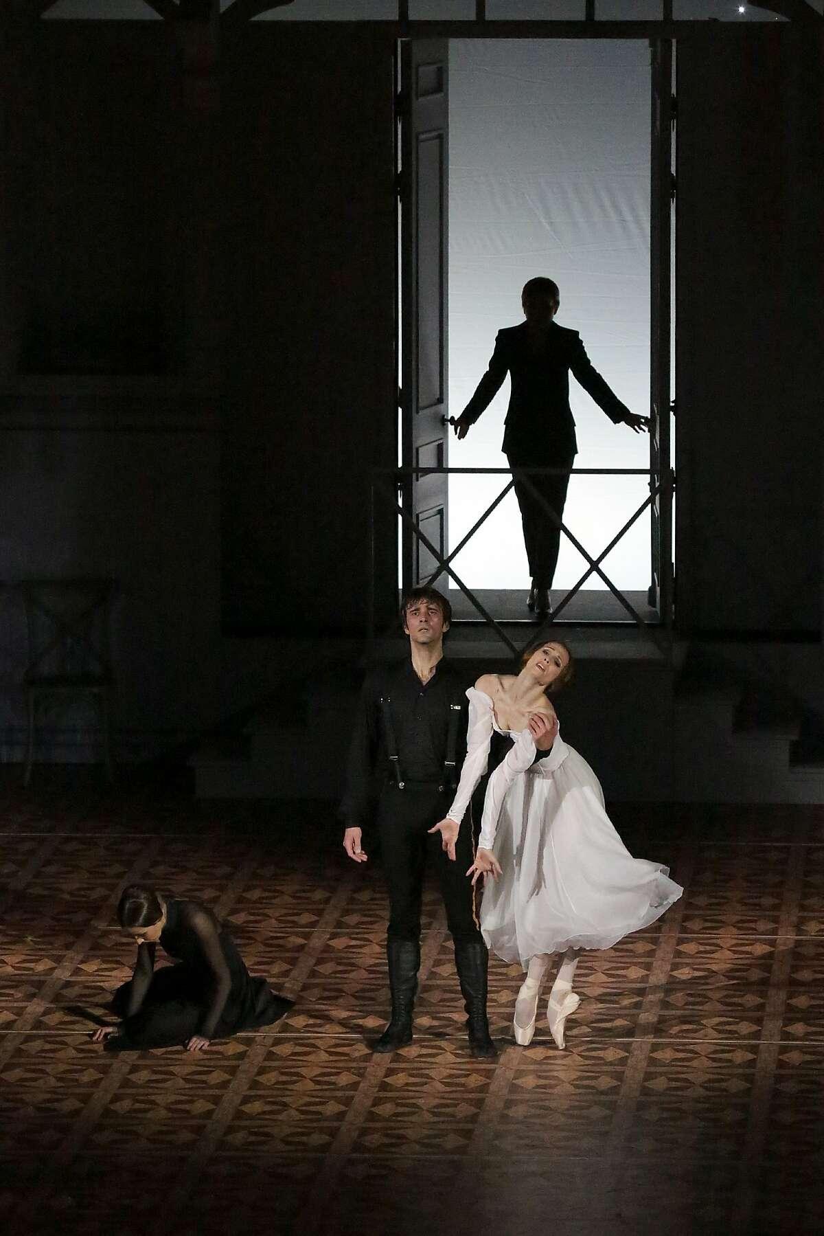 For �A Hero of Our Time.� Dancers: Svetlana Zakharova, Ruslan Skvortsov and Krisitina Kretova. Credit: Damir Yusupov