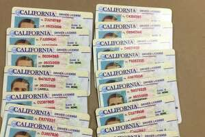 The suspect had in his possession 19 fake California Driver's licenses, all with the same photo but different names.
