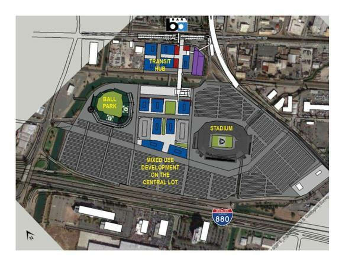 A rendering of Phase Four of the City of Oakland plan to keep the Raiders in Oakland with a stadium, ball park and mixed use development on the central lot On March 24, 2017 the City of Oakland, Alameda County, the Lott Group and Fortress Issue Documents Outlining Strength of Local Raiders Stadium Plan. The City of Oakland, Alameda County, the Lott Group and Fortress, who have been working in concert to develop a fully-financed local stadium proposal for the Oakland Raiders, shared publicly documents detailing the strength of the Oakland plan. Oakland Mayor Libby Schaaf, City Council President Larry Reid, whose district is home to the existing Coliseum and the proposed new stadium site, Lott Group partner and former NFL quarterback Rodney Peete and Fortress Managing Director Drew McKnight plan to gather with fans, local business leaders, nearby residents and other community members to demonstrate support for the Oakland stadium plan at events planned for Saturday, March 25. This is the day before NFL owners begin a series of meetings during which they are expected to discuss, and possibly vote on Raiders' owner Mark Davis' request to move the team to Las Vegas.