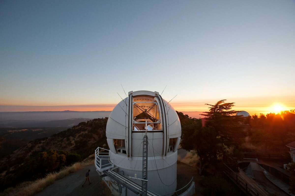 The evening sky at the top of Mount Hamilton at the Lick Observatory on Wednesday, August 4, 2010 in San Jose, Calif. Sixty specialized cameras that operate at UC's Lick Observatory, the Fremont Peak Observatory and a ground-based site, formerly in Mountain View but now in Lodi under a project called Cameras for Allsky Meteor Surveillance, constantly monitor the night sky for meteoroids.