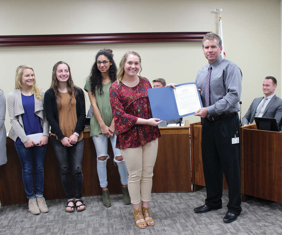 Middle School Hal Monthly News: Council Recognizes EHS Cheerleaders