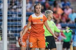 Bridgeview, IL - Saturday July 23, 2016:  CHouston Dash midfielder Megan Crosson (25) during a regular season National Women's Soccer League (NWSL) match between the Chicago Red Stars and the Houston Dash at Toyota Park.