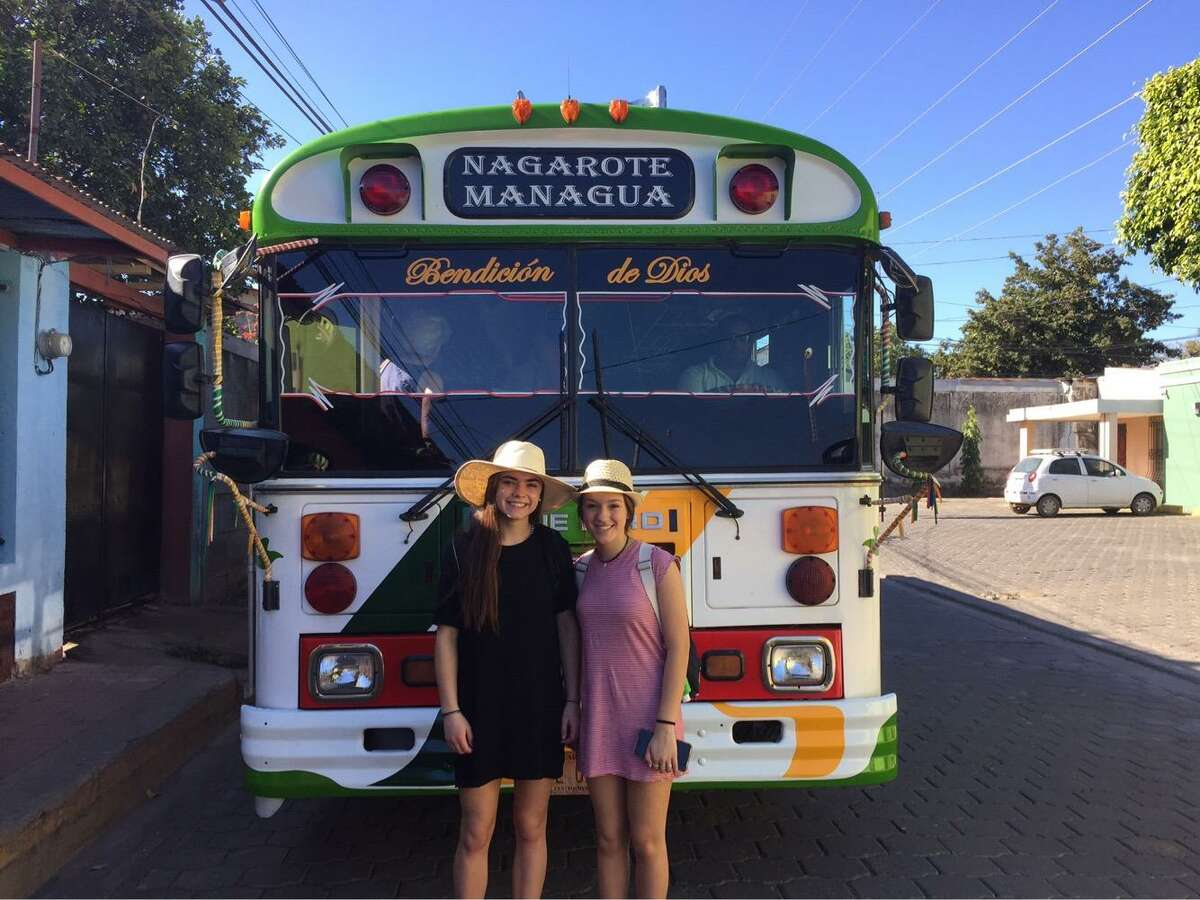 Every year a delegation from Norwalk travels to Nagarote, Nicaragua as a part of the Norwalk Sister City Project - a partnership in sustainable community development between the two cities that has existed for 30 years. This year's trip was a bit different as two seniors from The Kevin Edit Chapter of The Norwalk High Honor Society, Gracie Bradley and Sabrina Imbrogno (both pictured), were invited on the trip.