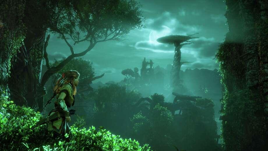 "Protagonist Aloy in ""Horizon Zero Dawn."" Photo: Sony Interactive Entertainment"