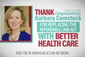 A screengrab of an advertisement prematurely thanking Republican lawmakers for repealing Obamacare.