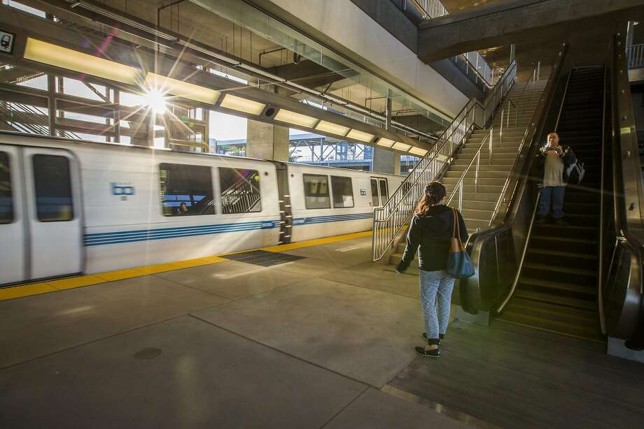 The Warm Springs BART station is already seeing some equipment issues three weeks into service: Two escalators are being looked at due to problems. Photo: Eric Kayne, Special To The Chronicle