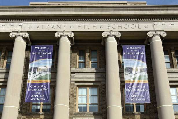 Exterior of the Schuyler Building which is the future home of the University at Albany's College of Engineering and Applied Sciences (CEAS) on Tuesday, Dec. 6, 2016 in Albany, N.Y. Originally serving as Albany High School from 1913-1972, the Schuyler Building is located at UAlbany's downtown campus. (Lori Van Buren / Times Union)