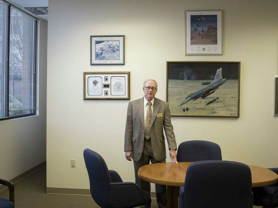 """Loyd S ÒChipÓ Utterback, Lt. General, USAF retired, CEO of Blue Skies of Texas, a retirement community outside of San Antonio, Texas that includes a nursing home, poses for a portrait in his office on Thursday, March 23, 2017. The majority of residents at Blue Skies are retired military. A proposal in the Texas legislature pushed by Sen. Juan Hinojosa, D-McAllen, would impose a fee on nursing home resident beds, including those which are private-pay. Companies such as Blue Skies of Texas would be forced to pay this fee, but are not convinced that they will be reimbursed by this new legislation. """"These people gave a lot back to our nation and I want to make sure they're not taxed at the most vulnerable time of their lives,"""" Utterback said. Photo: Matthew Busch, For The San Antonio Express-News / For The San Antonio Express-News / © Matthew Busch"""