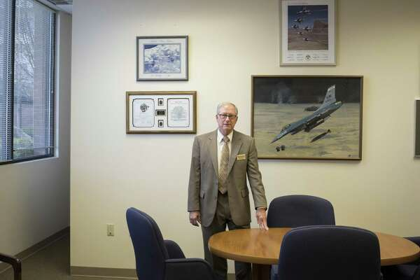 """Loyd S ÒChipÓ Utterback, Lt. General, USAF retired, CEO of Blue Skies of Texas, a retirement community outside of San Antonio, Texas that includes a nursing home, poses for a portrait in his office on Thursday, March 23, 2017. The majority of residents at Blue Skies are retired military. A proposal in the Texas legislature pushed by Sen. Juan Hinojosa, D-McAllen, would impose a fee on nursing home resident beds, including those which are private-pay. Companies such as Blue Skies of Texas would be forced to pay this fee, but are not convinced that they will be reimbursed by this new legislation. """"These people gave a lot back to our nation and I want to make sure they're not taxed at the most vulnerable time of their lives,"""" Utterback said."""