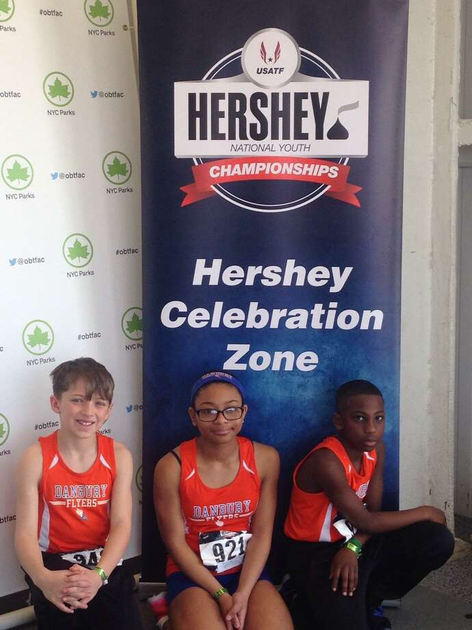 Jackson Sorbello (left), Kimberleigh Williams (middle) and Julian Farmer-Campbell at Hershey Nationals. Photo: Contributed Photo Courtesy Of Shawn Sorbello. / Contributed Photo Courtesy Of Shawn Sorbello.