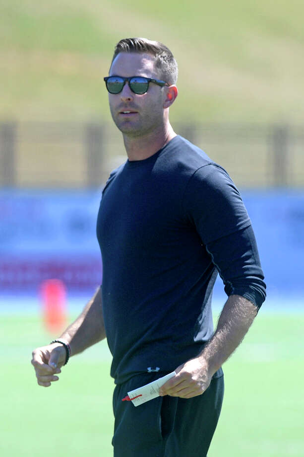 Texas Tech head football coach Kliff Kingsbury looks on during the spring football scrimmage March 25, 2017, at Grande Communications Stadium. James Durbin/Reporter-Telegram Photo: James Durbin
