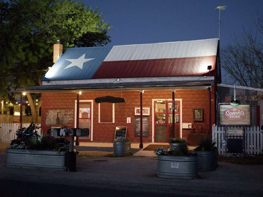 Specht's Store at night. Photo: Matthew Busch /For The San Antonio Express-News / © Matthew Busch