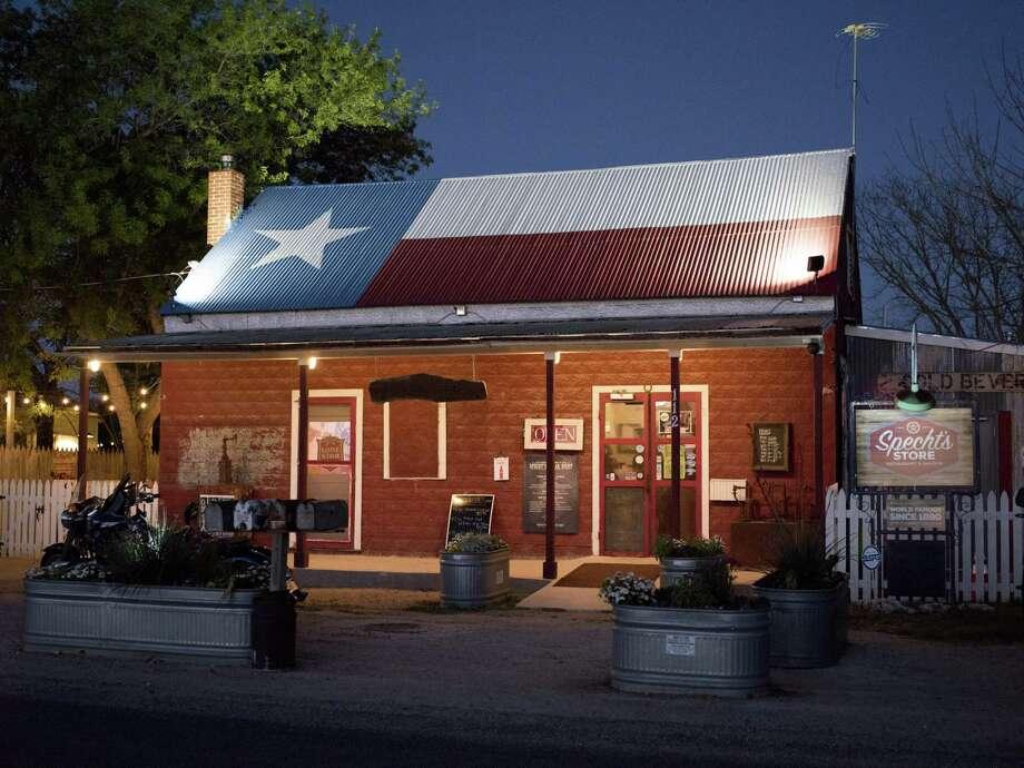 Specht's Store at night. Photo: Matthew Busch /For The San Antonio Express-News / © Matthew Busch