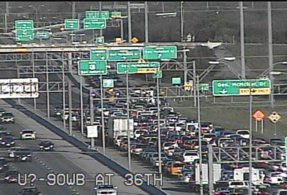 According to the active incidents page of the San Antonio Fire Department, multiple units responded to a wreck on U.S. 90 on the Southwest Side Saturday afternoon, March 25, that closed down all eastbound lanes. Photo: Texas Department Of Transportation