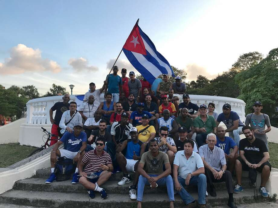 A's first baseman Yonder Alonso and his wife, Amber, took an emotional journey to his birthplace, Cuba, this winter. Photo: Courtesy Yonder Alonso