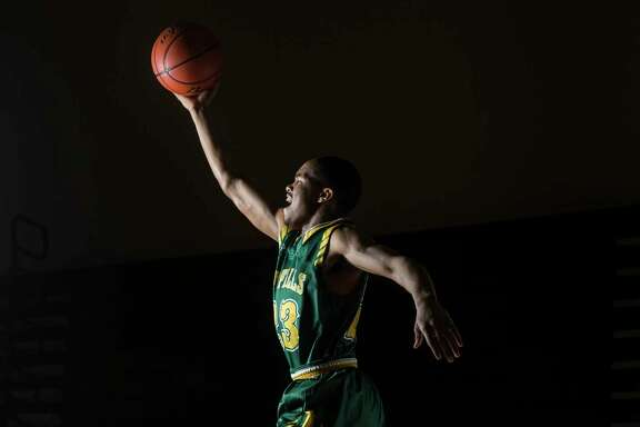 Cypress Falls basketball player Nigel Hawkins is the Houston Chronicle's All-Greater Houston boys basketball player of the year Thursday, March 23, 2017 in Houston. ( Michael Ciaglo / Houston Chronicle )
