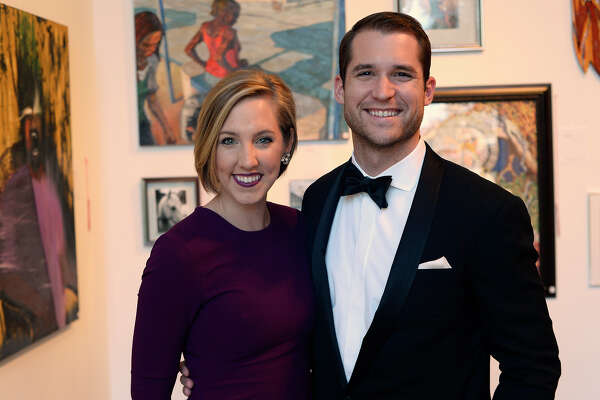 Sierra and Jefferson Fisher at the Le Grand Bal fundraiser for Lamar University's College of Fine Arts and Communication on Saturday evening. Photo taken Saturday 3/25/17 Ryan Pelham/The Enterprise