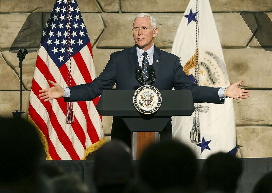 In 2002, Mike Pence told the Hill that he never eats alone with a woman. Click through the following slides to see more news-making quotes from Pence's days in public life. Photo: Sholten Singer, Associated Press