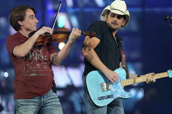 Brad Paisley performed after the Houston Livestock Show and Rodeo Super Series Championship in NRG Stadium Saturday, March 25, 2017, in Houston.