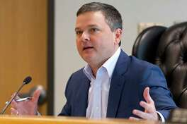 Montgomery County Precinct 3 Commissioner James Noack speaks during a recent County Commissioners Court.