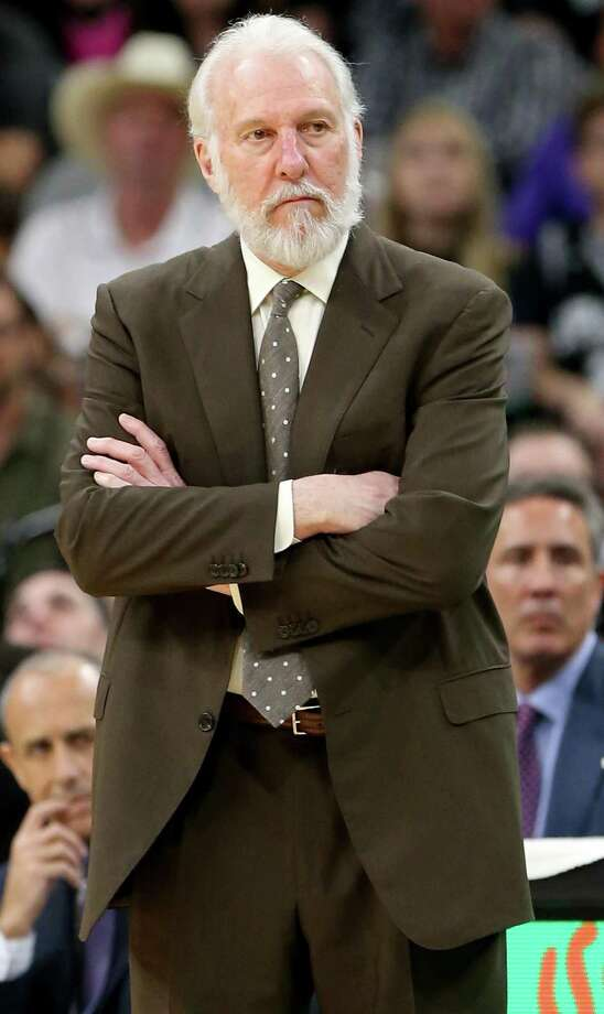 San Antonio Spurs head coach Gregg Popovich watch second half action against the New York Knicks Saturday March 25, 2017 at the AT&T Center. The Spurs won 106-98. Photo: Edward A. Ornelas, Staff / San Antonio Express-News / © 2017 San Antonio Express-News