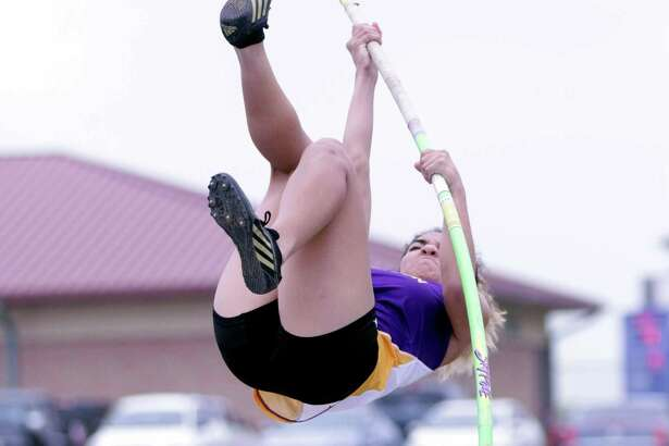 LBJ's Annette Gallegos won the gold medal in the pole vault after clearing 8-9.