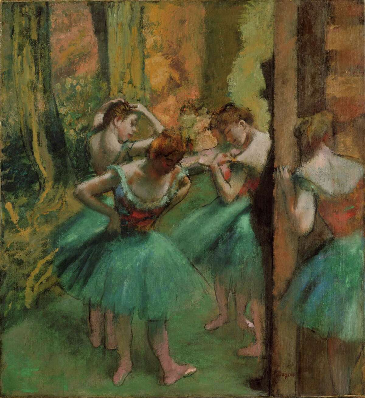 """""""Dancers, Pink and Green"""" is among works by EdgarDegas in an exhibit that recently was at the Museum of Fine Arts, Houston. NEA funding supported the exhibit."""