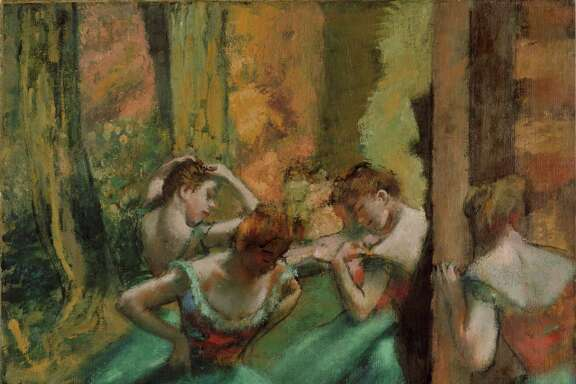 """Dancers, Pink and Green"" is among works by Edgar Degas in an exhibit that recently was at the Museum of Fine Arts, Houston. NEA funding supported the exhibit."