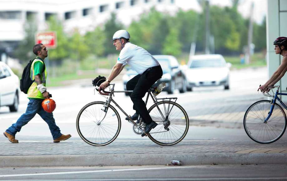 The adoption of the bike plan should symbolize Houston's commitment to the safety of everyone on our roads, and it's the beginning of a process to find funding and community support for specific bike lane projects. Photo: Marie D. De Jesus, Staff / © 2014 Houston Chronicle