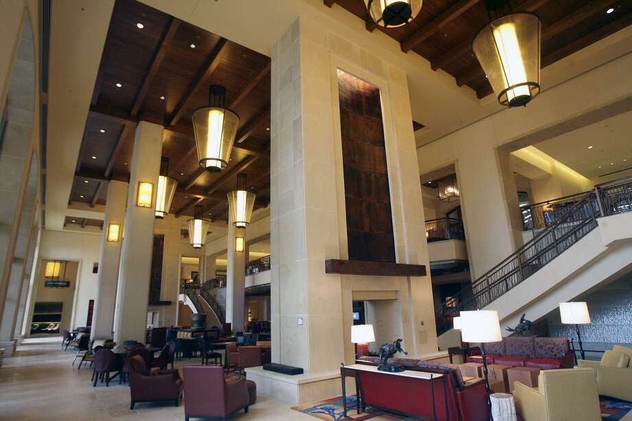 Alexa and Siri are both vying to be the voice-controlled platform of choice for travelers. The JW Marriott San Antonio Hill Country Resort & Spa has has been testing the Amazon technology since October. The focus is on using Alexa as a personal concierge. Shown is the ground floor of the resort's lobby. Photo: San Antonio Express-News /File Photo / © 2010 San Antonio Express-News