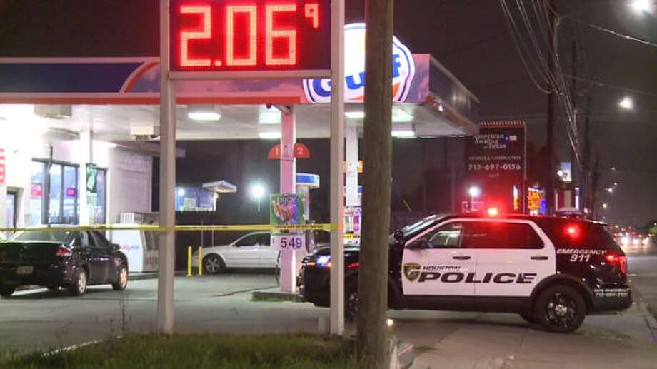 A man was fatally shot outside a Houston gas station.
