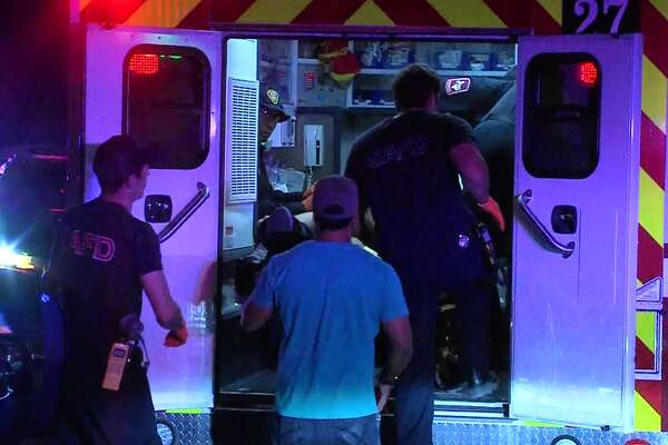 San Antonio police investigate a shooting on the Northwest Side that sent one man to the hospital in serious condition Sunday morning, March 26, 2017.