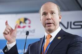 UNITED STATES - FEBRUARY 08: Rep. John Delaney, D-Md., speaks during a ribbon-cutting event for the newly expanded National Cybersecurity Center of Excellence (NCCoE) at the National Institutes of Standards and Technology (NIST) in Rockville, Md., February 08, 2016. (Photo By Tom Williams/CQ Roll Call)